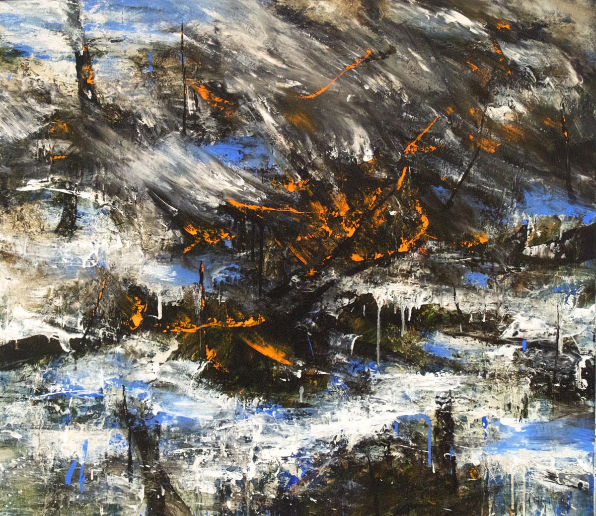Burning landscape III