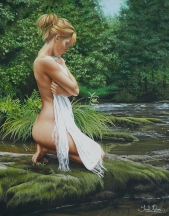 Artwork preview: Untitled (naked women near a stream)