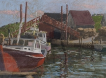 Artwork preview: Boats at dock