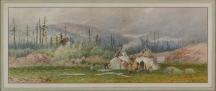 Artwork preview: Indian Encampment ; 1877