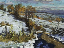Aperçu de l'œuvre: Early snow at les Eboulements ; 2002