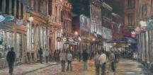 Aperçu de l'œuvre: Ambiance de soirée, Vieux Montréal