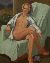 Artwork preview: No title (seated nude woman)