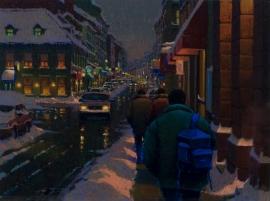 Aperçu de l'œuvre: A night on St-Paul, Old Montreal
