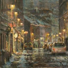 Artwork preview: Première neige, rue St-Paul