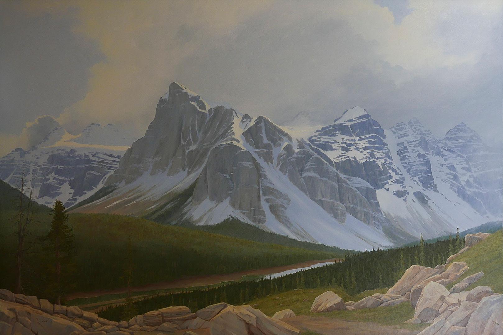 Where winter's never far away (Valley of the Ten peaks)