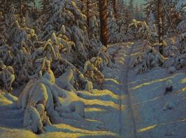 Artwork preview: Sans Titre (Paysage d'hiver-  Carton d'invitation)