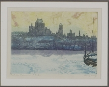 Artwork preview: The frozen St-Lawrence at Quebec