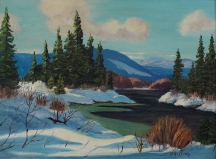 Artwork preview: Untitled (river in winter)