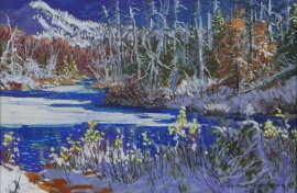 Artwork preview: Early wet sticky snow in october, Park des Laurentides