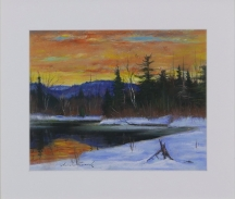 Artwork preview: Untitled (Sunset on Devil's river)