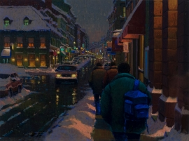 Artwork preview: A night on St-Paul, Old Montreal