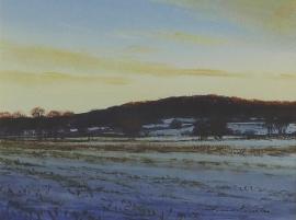 Artwork preview: Sun setting below Elders hill