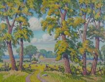 Artwork preview: Harvest time, near Woodbridge